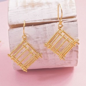 Silver Cleo Earrings – Yellow Gold Plating