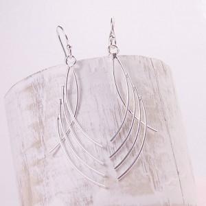 Silver Fanfare Earrings