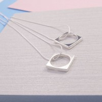 Silver Square Ring Pendant