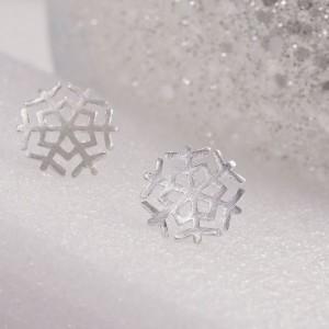 Silver Snowflake Studs