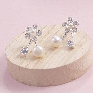 Pearl Blossom Sparkle Studs