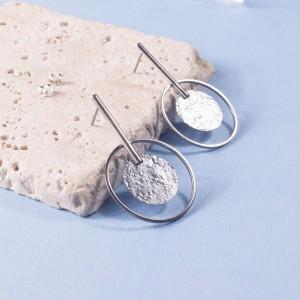 Silver Merrian Stud Earrings