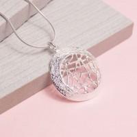 Silver Hessian Moon Pendant