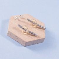 Silver Meteor Stud Earrings
