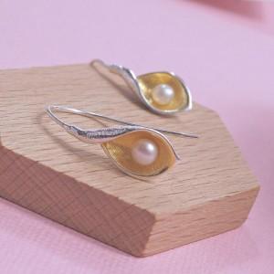 Silver Snakeye Earrings